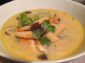 Thai inspired chicken coconut soup