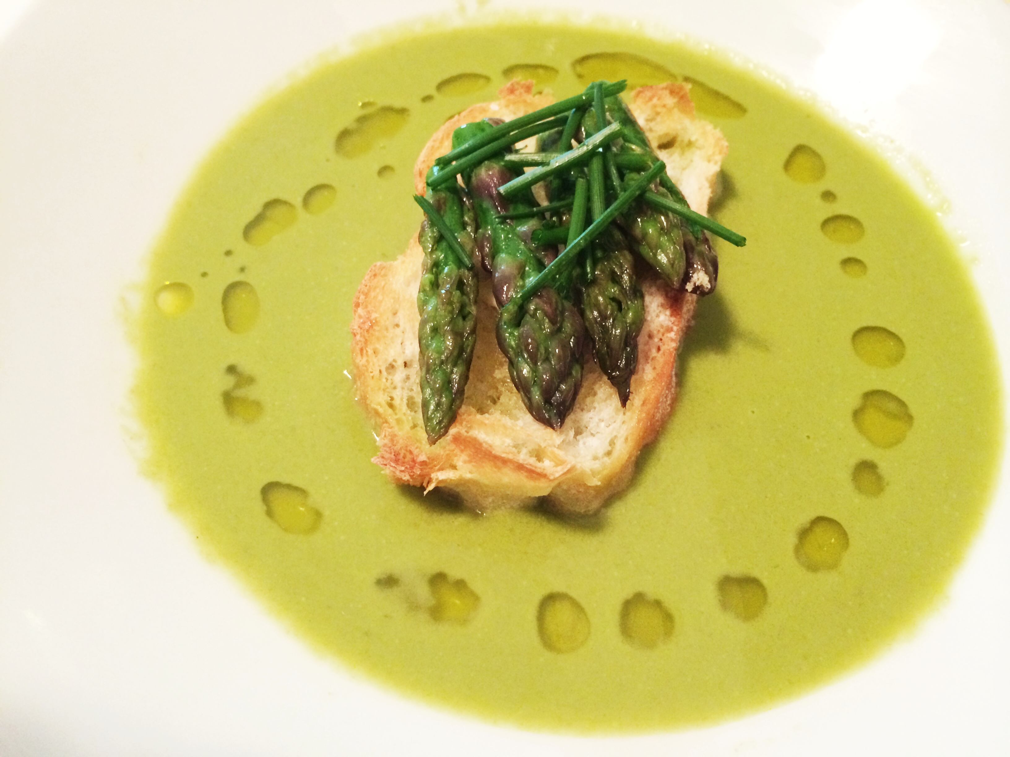 Ramp and Asparagus Soup | Press Worthy Eats